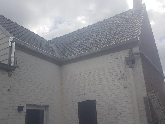 Remplacement de corniches et descentes d'eau pluviale pour un client à Bruges